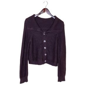 MOTH Oversized Collar Button Down Knit Sweater